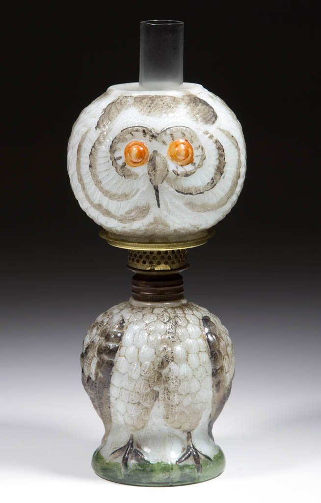 GLASS OWL FIGURAL MINIATURE LAMP
