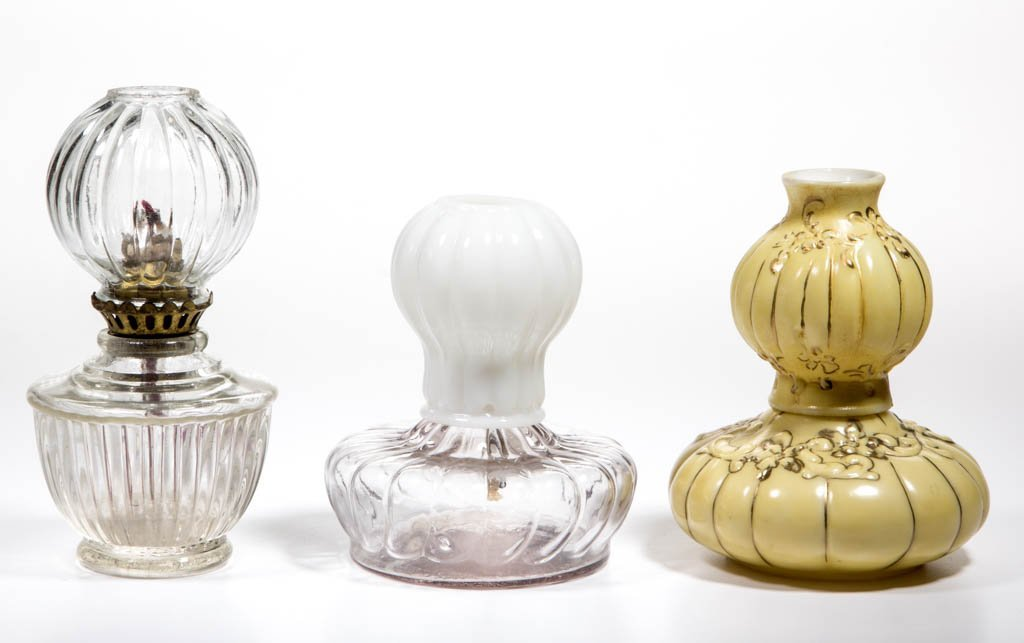 ASSORTED GLOW MINIATURE LAMPS, LOT OF THREE