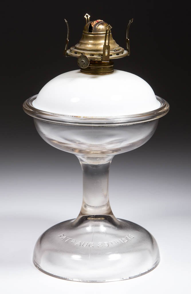 PATENTED ATTERBURY KEROSENE STAND LAMP