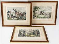 NATHANIAL CURRIER MEXICAN WAR HISTORICAL PRINTS, LOT OF