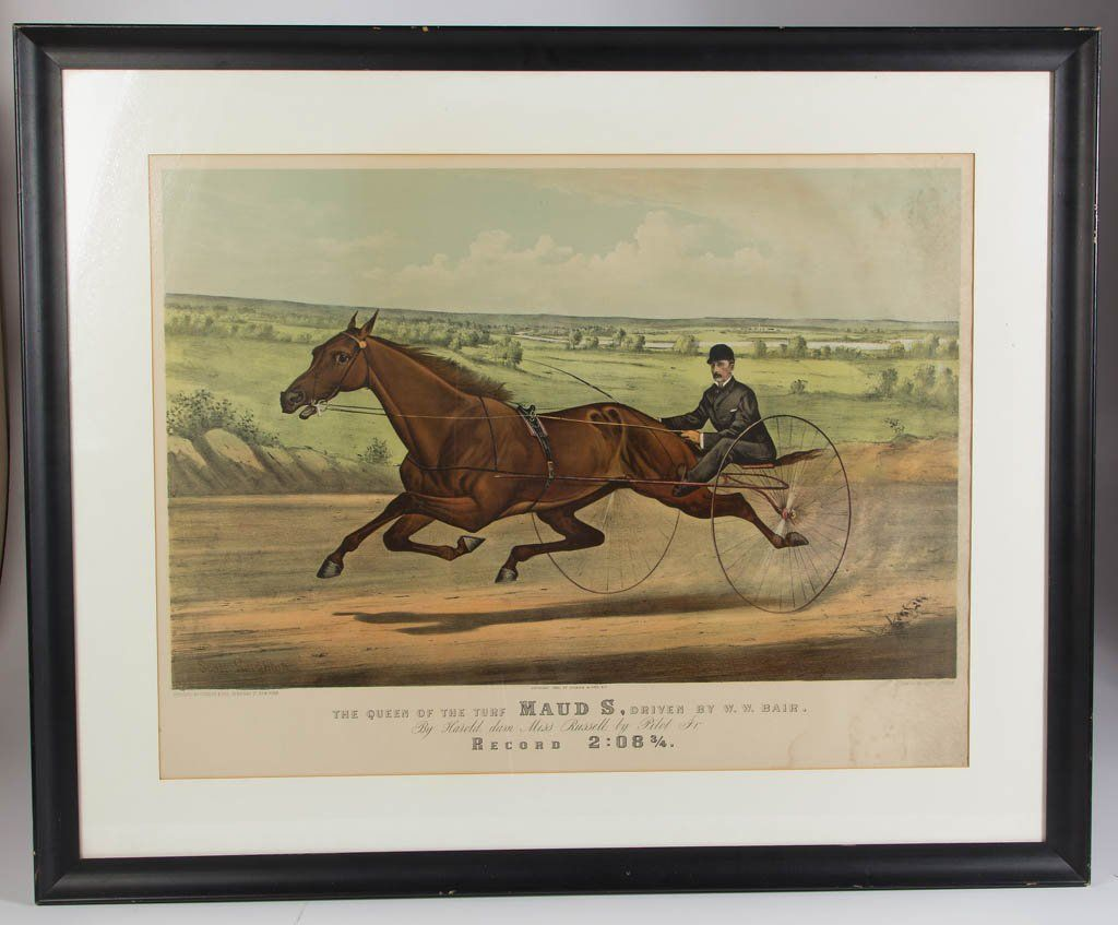 CURRIER & IVES HORSE RACING LARGE-FOLIO PRINT