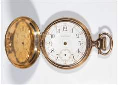 WALTHAM 14K GOLD CASE 15JEWEL LADYS MODEL 1900 POCKET