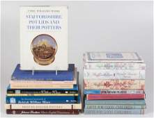 ENGLISH TRANSFERPRINTED CERAMIC REFERENCE VOLUMES LOT