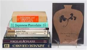 JAPANESE / ASIAN CERAMIC REFERENCE VOLUMES, LOT OF TEN