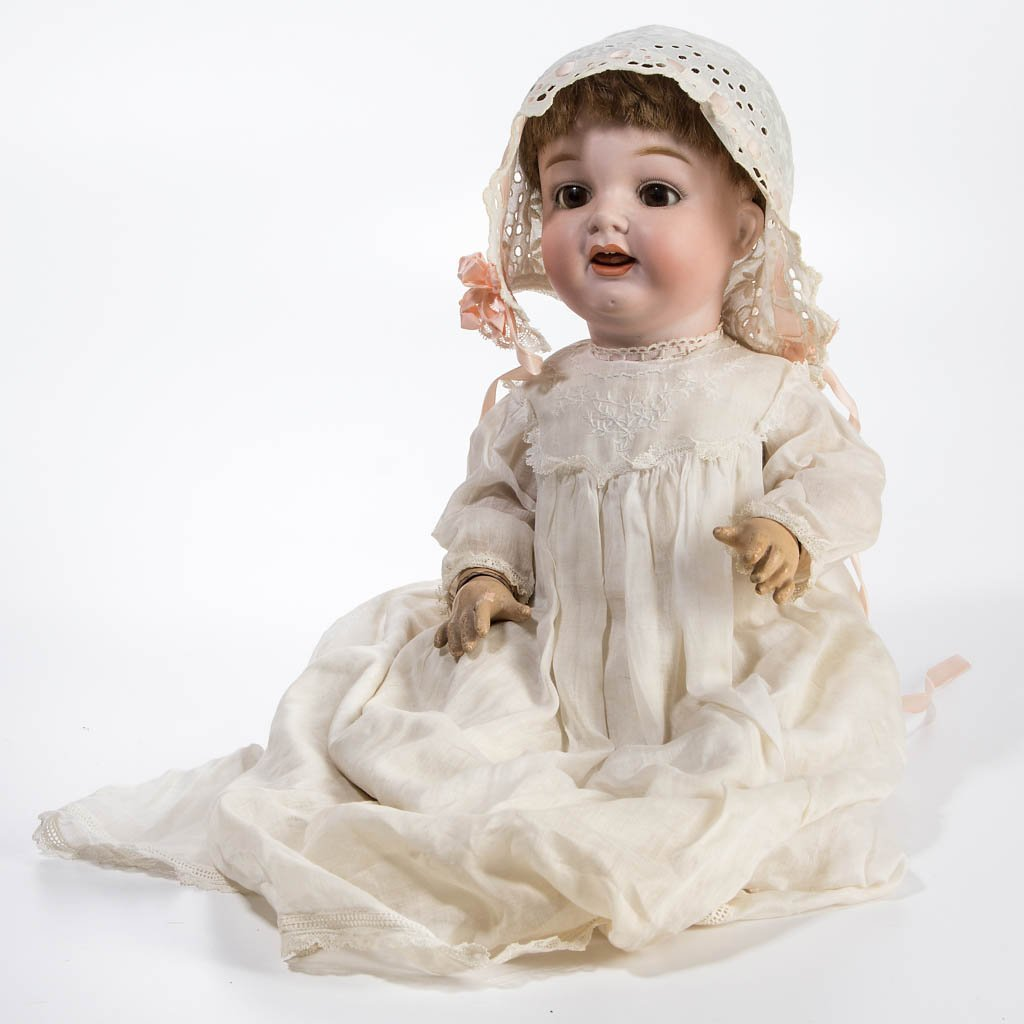 MORIMURA JAPANESE BISQUE-HEAD CHARACTER CHILD DOLL