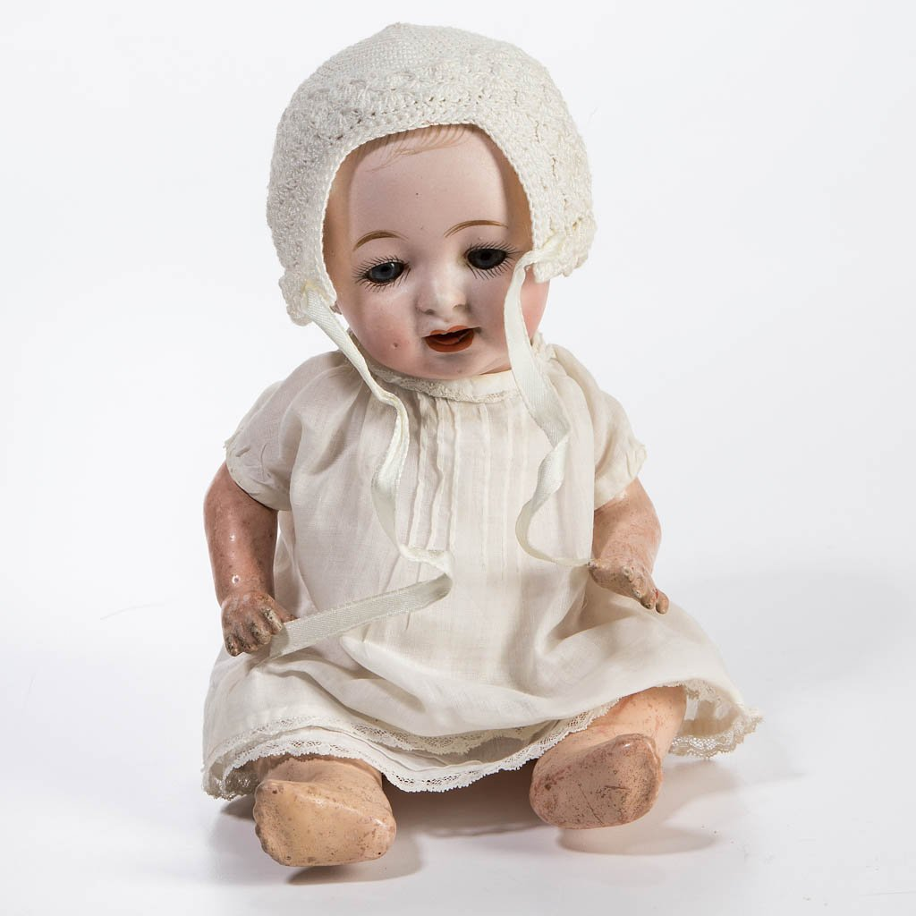 GERMAN BISQUE-HEAD CHARACTER BABY DOLL