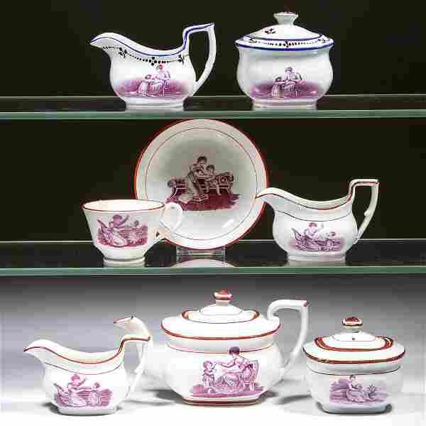 ENGLISH BAT-PRINTED CHILDREN'S TOY CERAMIC TEA