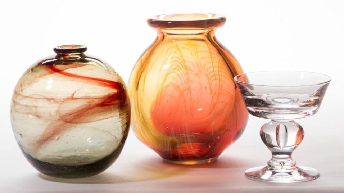 MARK PEISER STUDIO ART GLASS VASE