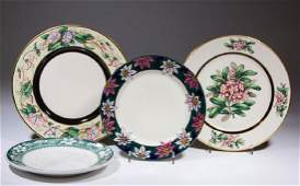 BUFFALO CHINA DESIGN SAMPLE CERAMIC PLATES LOT OF FOUR