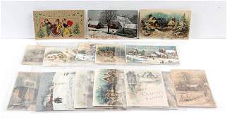 CHRISTMAS HOLDTOLIGHT POST CARDS LOT OF 18