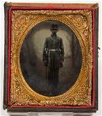 UNION CIVIL WAR SOLDIER RUBY AMBROTYPE PHOTOGRAPH