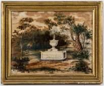 AMERICAN SCHOOL (19TH CENTURY) FOLK ART MOURNING