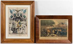 AMERICAN HISTORICAL PRINTS LOT OF TWO
