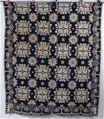 NEW YORK ATTRIBUTED LION AND ROSES DOUBLE-WEAVE