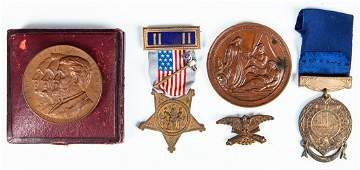 1892 Grants Tomb Medallion in Original Leather Box