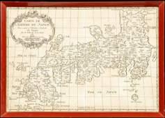 Carte de LEmpire du Japon by Jacques Nicolas Bellin