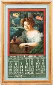 Coca-Cola Rare 1909 Exhibition Girl Calendar in Fine