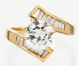 Ladies Exceptional Engagement Ring in 14K Yellow Gold