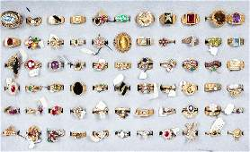 Trove of 10K & 14K Gold Ladies Rings with Some Natural