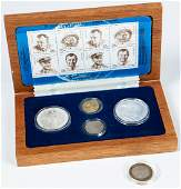 Commemorative Yuri Gagarin Russian Ruble Set Including