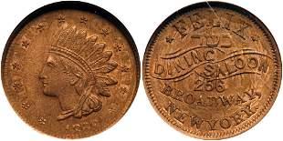 1863 US Civil War Store Card Token, Felix Dining