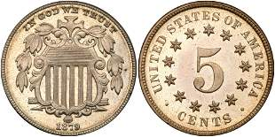 1879/8 Shield Nickel
