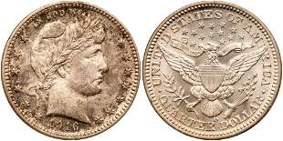 1916-D Barber Quarter Dollar