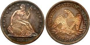 1862 Liberty Seated Half Dollar