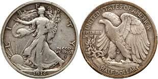 1916-S Liberty Walking Half Dollar