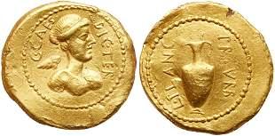 Julius Caesar. Gold Aureus (7.93 g), 46-45 BC