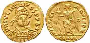 Julius Nepos. Gold Solidus (4.38 g), first reign, AD