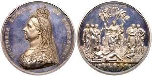 Great Britain. Golden Jubilee Silver Medal, 1887