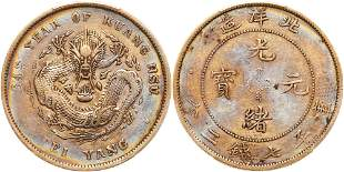 Chinese Provinces: Chihli. Dollar, Year 34 (1908)
