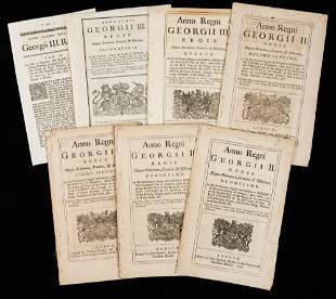 7 Original 18th Century Acts During The Reign of George