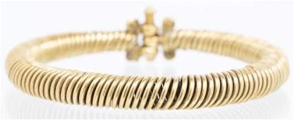 Medieval European Solid 18+ K Gold Bangle Bracelet