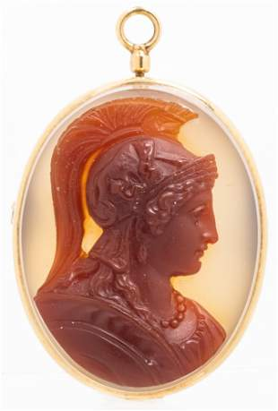Neo Classical, 18th Century, Cameo Pendent or Pin