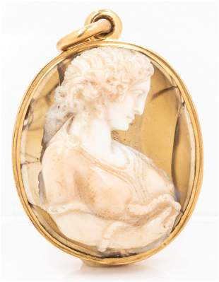Neo Classical, ca. Victorian Period, Banded Agate Cameo