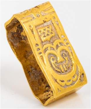 Byzantine 22K Gold Buckle, ca. 7th-8th Century
