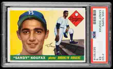 Sandy Koufax Rookie Card, Brooklyn Dodgers, 1955, Topps
