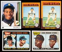 Five (5) Rookie Cards: 2 x Robin Yount, Ken Griffey