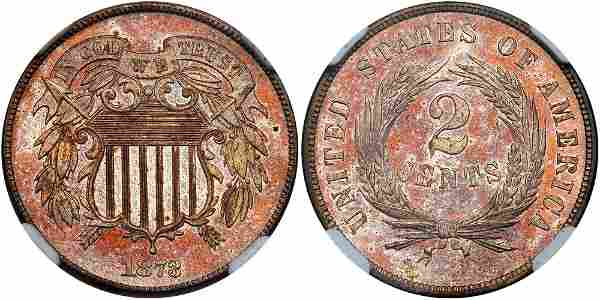 1873 Two Cents. Closed 3