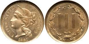 1881 Nickel Three Cents