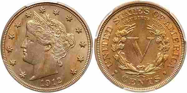 1912-S Liberty Nickel