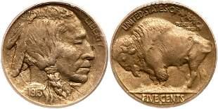 1913-S Buffalo Nickel. Type 2