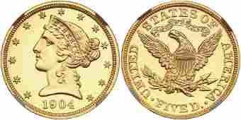 1904 $5 Liberty