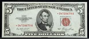 1953, $5 Legal Tender Note