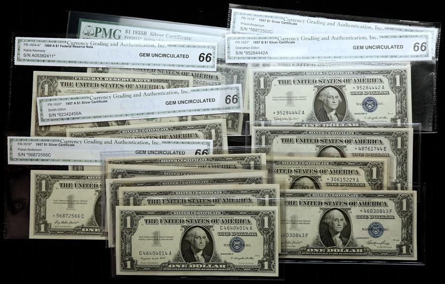 20-piece group of $1.00 Crisp Uncirculated Silver