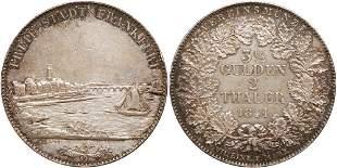 German States: Frankfurt am Main. 2 Taler, 1841