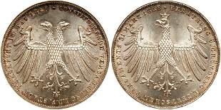 German States: Frankfurt am Main. 2 Gulden, 1848