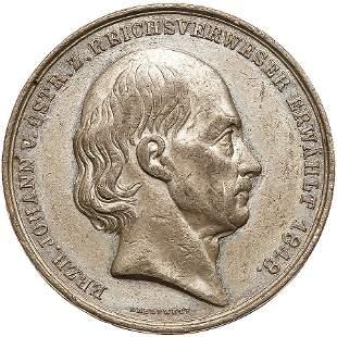 German States: Frankfurt am Main. Medal, 1848